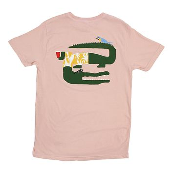 Good Times Only Gator, Pink Pocket Tee, Graphics on front & back