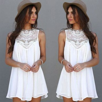 Gilly White Swing Dress