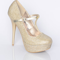 Tiny Sequined Pumps - Shoes