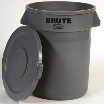 Brute® Snap-on Trash Can Lid For Brute® 32-gallon Containers, Gray, 22.2x1.6""