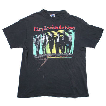 Huey Lewis And The News Small World Vintage T-Shirt