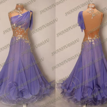 NEW READY TO WEAR CHRISANNE GEORGETTE ULTRA VIOLET BALLROOM DRESS SIZE:S US 4-6