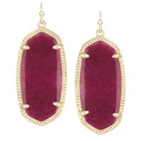 Elle Earrings in Maroon Jade - Kendra Scott Jewelry