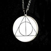 DISCONTINUED SALE Large Deathly Hallows Symbol by girlsknow