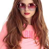 Pink Round Frame Sunglasses