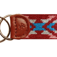 Santa Fe Needlepoint Key Fob in Rust by Smathers & Branson