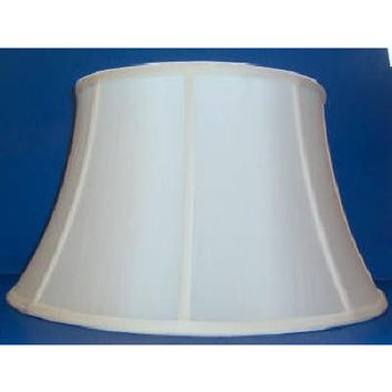 20358 - Floor Lamp Shantung Silk With Sateen Ling And Washer Finial Top