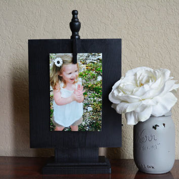 Picture Frame Black, Picture Stand, Table Decor, Clothespin Picture Frame, Photo Frame, Clip Frame, Clothespin Picture Display, Photo Holder