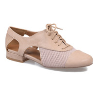 Beige Cut Out Oliver Oxford Flats