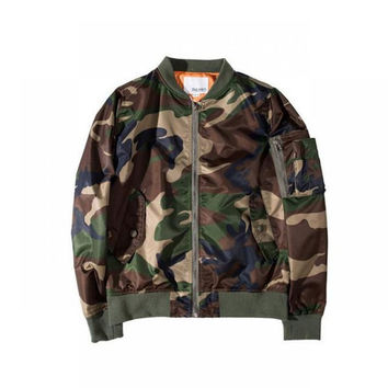 Mens Jackets And Coats Kanye West Ma1 Bomber Jacket Camouflage military Jacket Windbreaker Ma1 Flight Jacket Men Coat Clothes