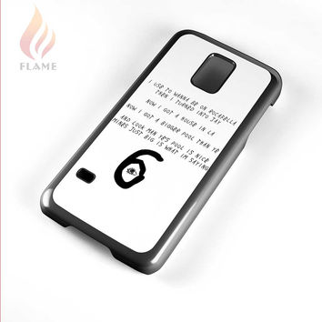 Drake Summer Sixteen Lyric Logo Samsung Galaxy S5 Mini Case