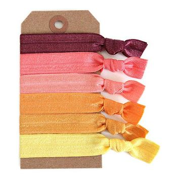 Sunset Hair Tie Set