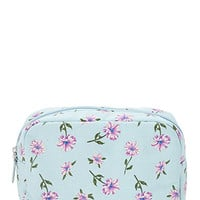 FOREVER 21 Floral Print Cosmetic Bag