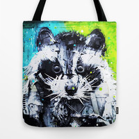 RACCOON Tote Bag by Maioriz Home