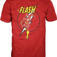The Flash Run Flash Lightning Bolt Adult Red T-Shirt