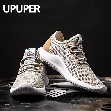 UPUPER Flying Weaving Men Sneakers Ultra-light Breathable Men Casual Shoes Large Size:39-46 Outdoor Comfortable Wearing Men Shoe