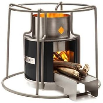 Stove Wood Burning Heater Cooking Camping Beach Portable Fire Metal Design EZY