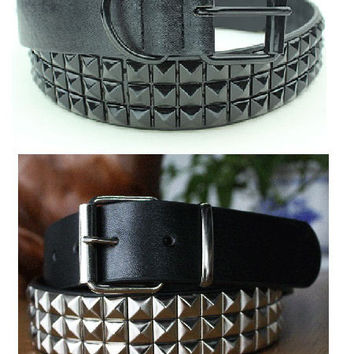 Mens Pyramid Studded Belt - 2 Variations