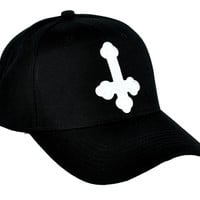 Inverted Cross Hat Baseball Cap Occult Gothic Clothing