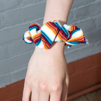 White, Blue, and Orange Scrunchie - Hair Accessories - Accessories