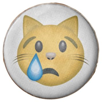 Crying Cat Face Emoji Chocolate Dipped from Zazzle ...