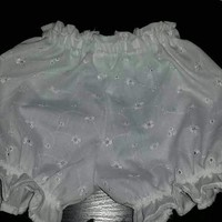 White Eyelet Bloomers