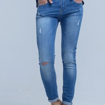 Skinny Jeans With Cuffs