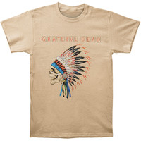 Grateful Dead Men's  Spring 1990 Over Dyed T-shirt Putty Rockabilia