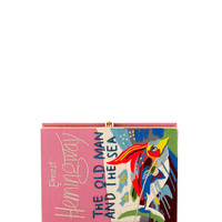 Olympia Le-Tan The Old Man And The Sea Book Clutch Bag, Pink
