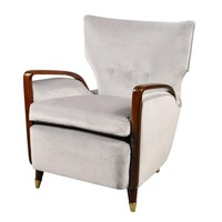 Armchair by Melchiorre Bega, Cassina Production, Italy, 1950s