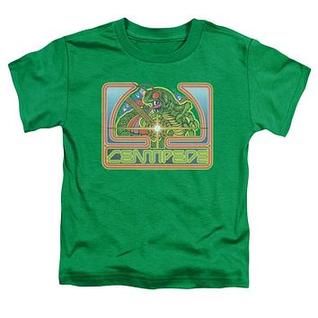 Atari Toddler T-Shirt Centipede Retro Game Kelly Green Tee