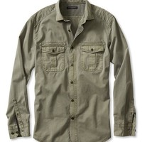 Banana Republic Mens Slim Fit Quilted Utility Shirt