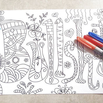 bullshit swear word coloring book adults sweary mature content download colouring coworker fun relax diy printable digital lasoffittadiste