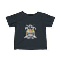 Humpty Dumpty Baby Halloween Costume T-shirt Funny Nursery Rhyme I'm Really Humpty Dumpty This Is Just My Costume Infant Fine Jersey Tee