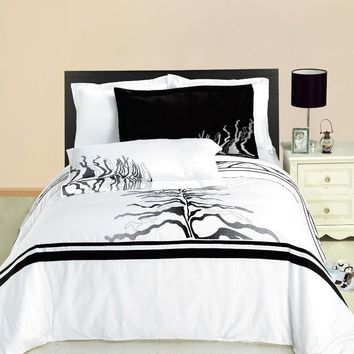 Huntington 3PC Printed Combed cotton Duvet Cover Set