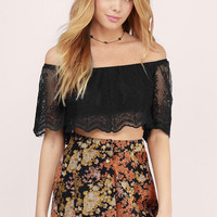 Pensively Staring At You Crop Top