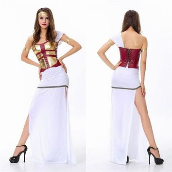PEAPIX3 Halloween Costume White Prom Dress [9220651716]