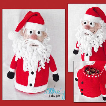 Christmas Crochet Pattern - Santa Claus, Christmas Decoration - Gift Bag, CP-140