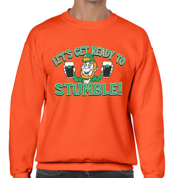 let`s get ready to stumble St patrick men sweatshirt
