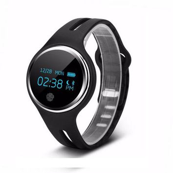 Waterproof IP67 E07 Smart Bracelet System Necklace Band Pedometer Fitness Watch Step Counter Smart Wristband for Swimming Diving