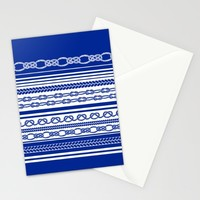 NAUTIC KNOTS: COBALT BLUE Stationery Cards by Eileen Paulino