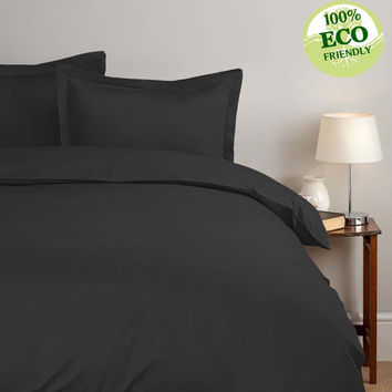 Egyptian Cotton Pewter Duvet Cover Set - 1000 Thread Count