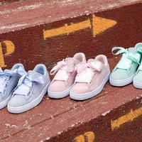 PUMA BOW Trending Fashion Casual Sports Shoes knot G-1