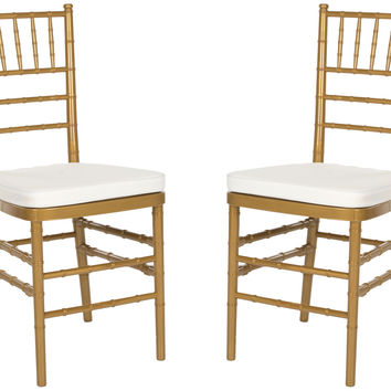 Carly Side Chair Gold (Set of 2)