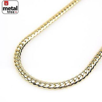 Jewelry Kay style Hip Hop Heavy 10 mm 14K Gold Plated Men's Miami Cuban Link Chain Necklace 24""