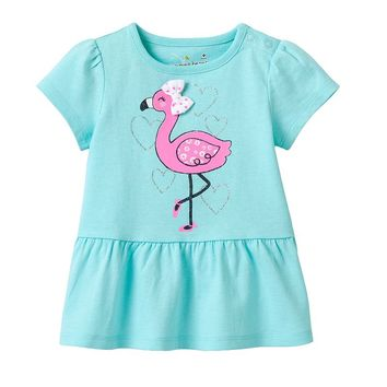 Jumping Beans Sparkle Flamingo Heart Tee
