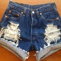Size 2/4 Levi's High Waisted Jean Shorts