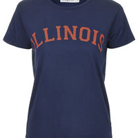 Illinois Tee by Project Social T - Navy Blue