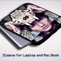 oliver sykes skull head Z0275 Sleeve for Laptop, Macbook Pro, Macbook Air (Twin Sides)