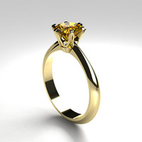 Citrine engagement ring, solitaire, yellow gold, white gold, citrine wedding, thin, simple ring, yellow gemstone, unique engagement, custom